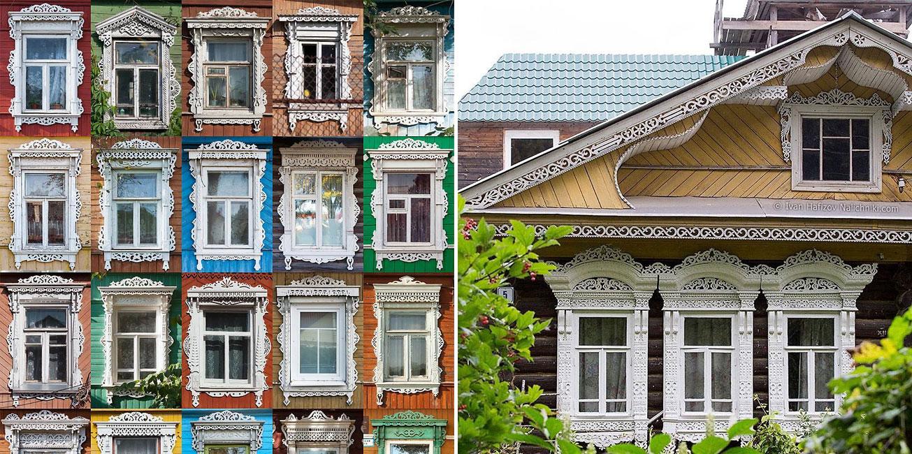 Casette Russe Di Campagna le tradizionali cornici in legno (fatte a mano) delle case russe